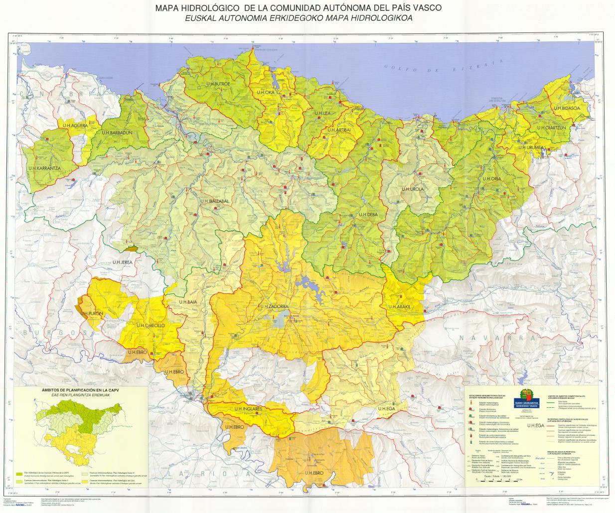 Mapa hidrológico de la Comunidad Autónoma del País Vasco. 40 ...